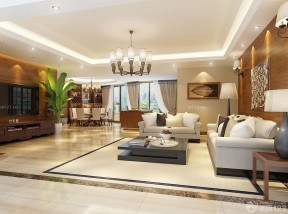 130平米簡單裝修設計圖 大客廳裝修效果圖片