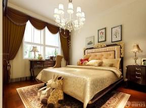 130平米簡單裝修設計圖 雙人床裝修效果圖片