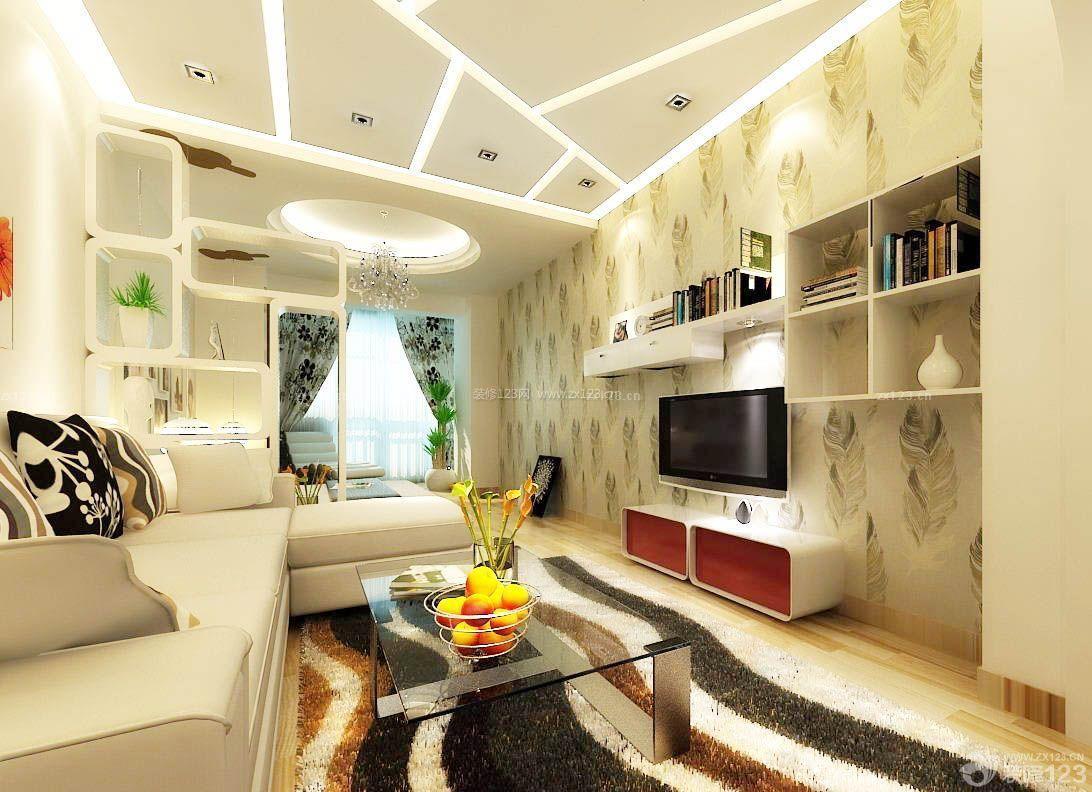 温馨单身公寓液态壁纸装修效果图片欣赏