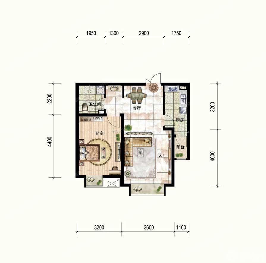 新农村房屋60平米小户型设计平面图大全图片
