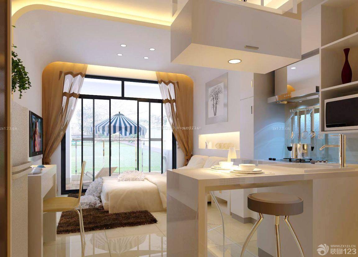 时尚单身公寓装修吧台设计效果图欣赏