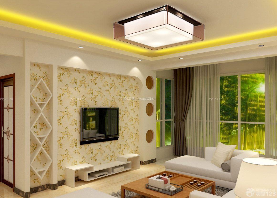 70平米2室1厅灯带装修效果图片
