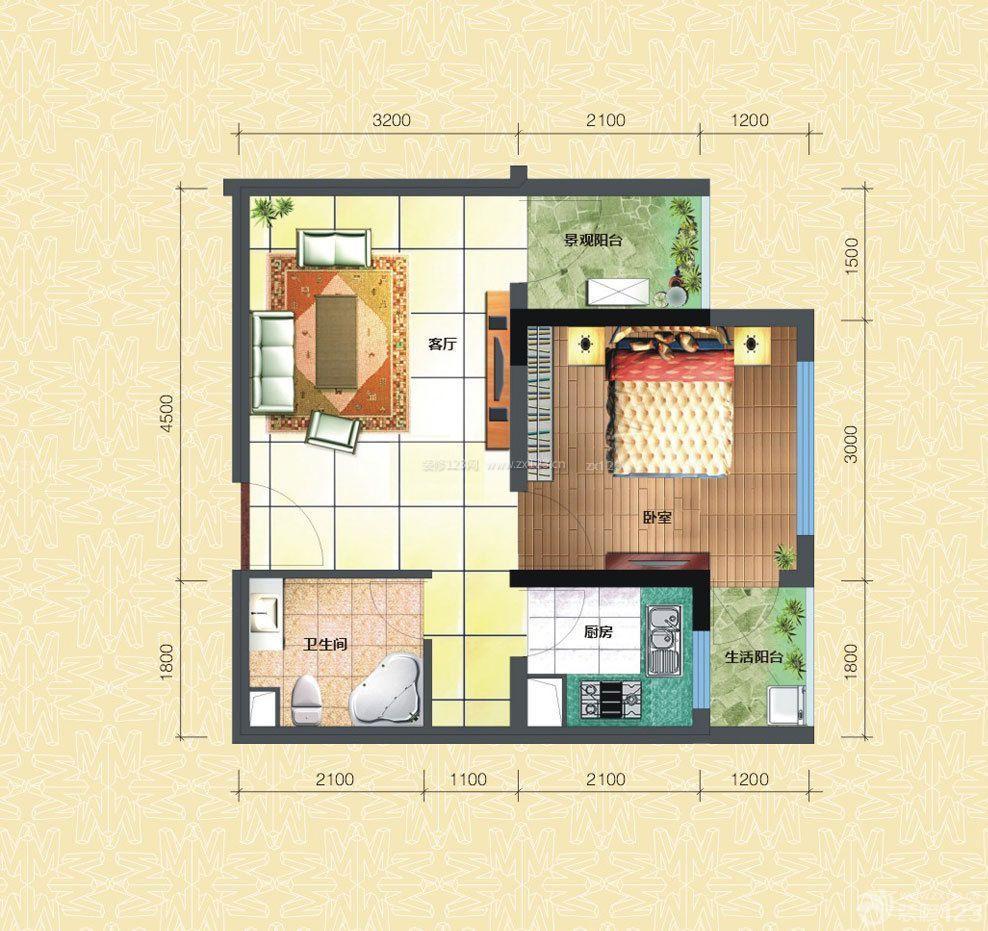 新农村房屋60平米小户型设计平面图大全