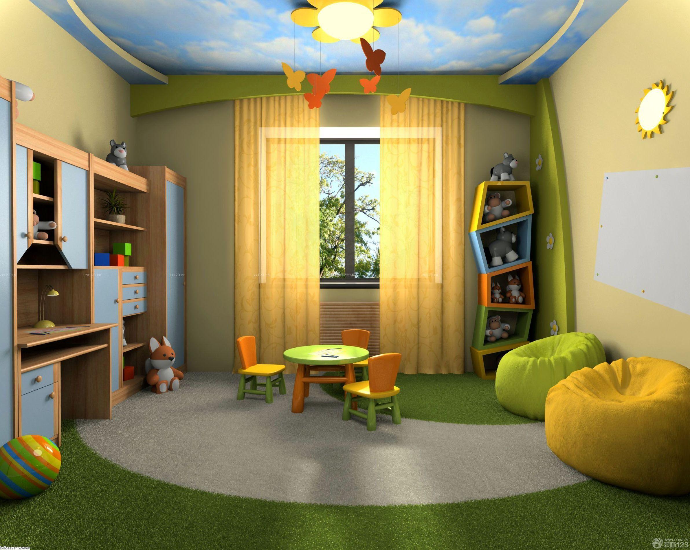 最新儿童套房吊顶设计装修效果图片