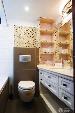 两室两厅现代风格卫生间储物架设计图片