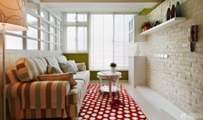 60平方兩室一廳客廳裝修效果圖 墻磚墻面裝修效果圖片