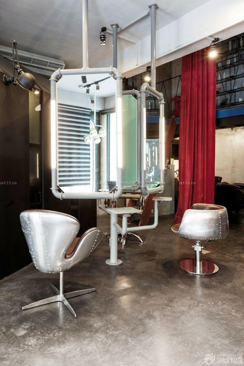 loft风格60平方小型美发店装修图