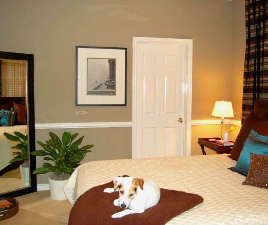 美式风格卧室房间门装修效果图