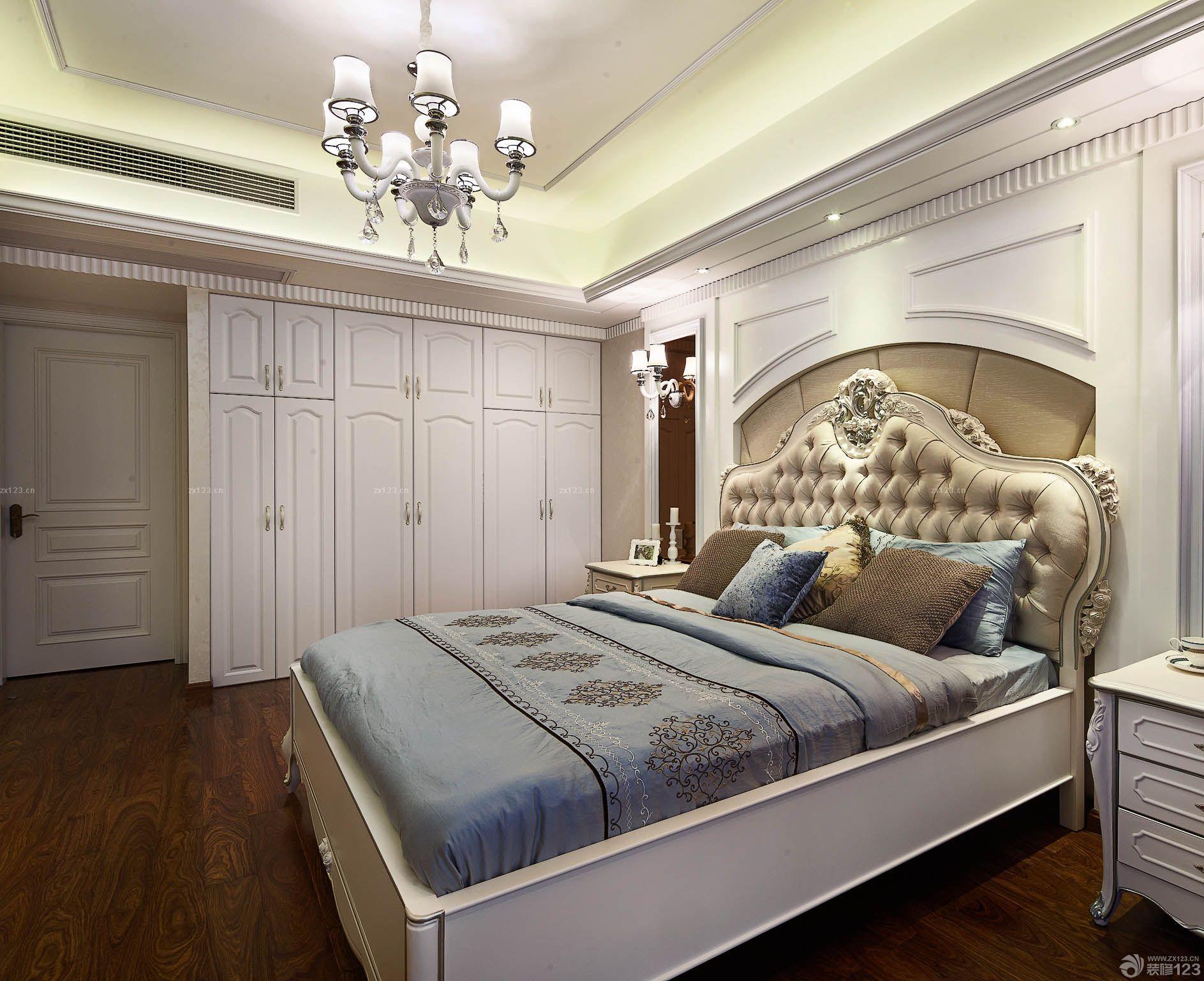 美式卧室房间门装修效果图图片