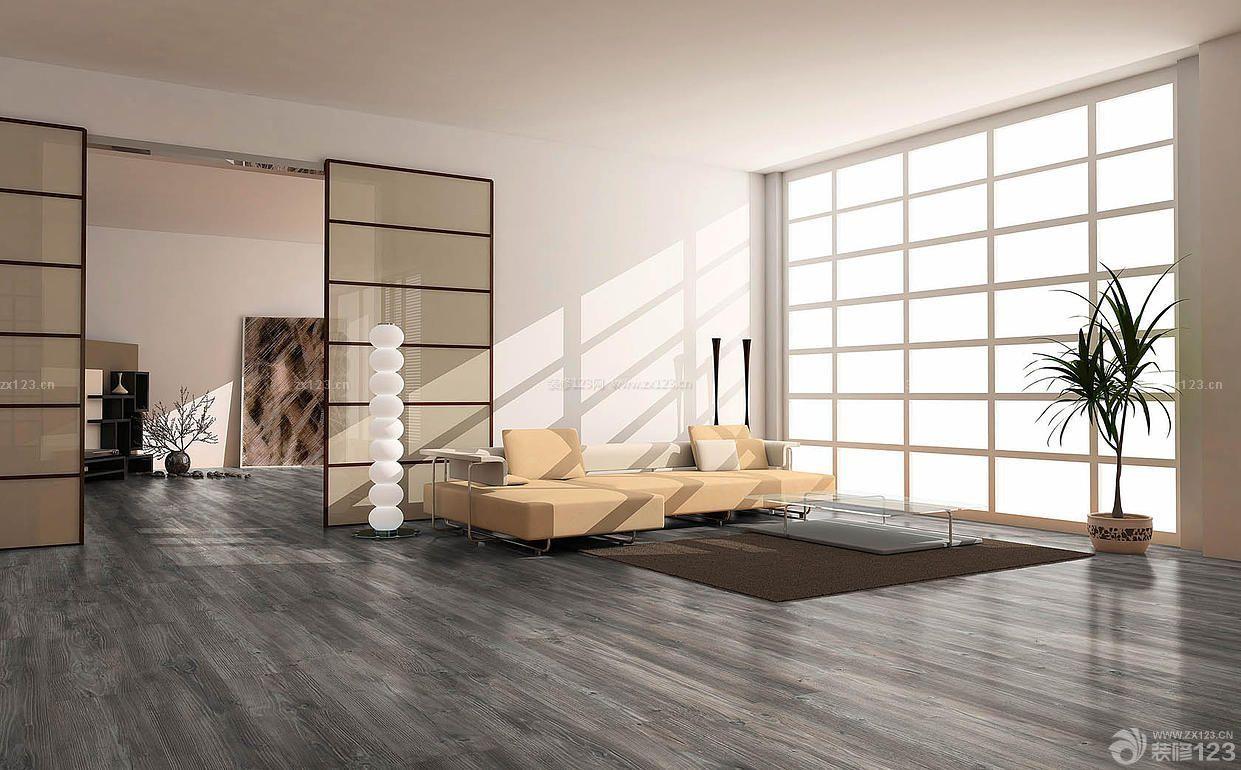 时尚120平米深灰色木地板装修效果图8万欣赏