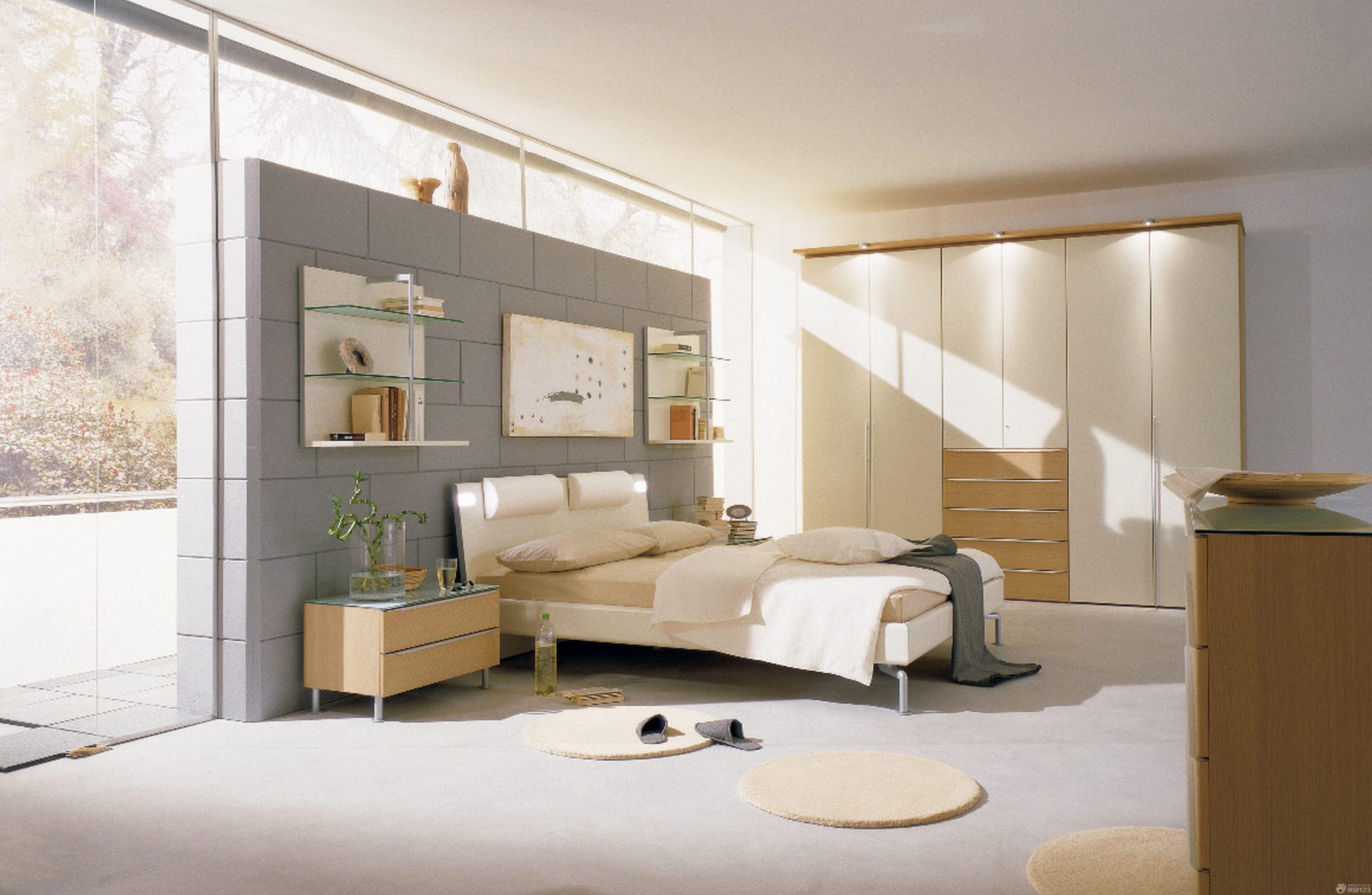 120平米简约时尚卧室装修效果图8万欣赏