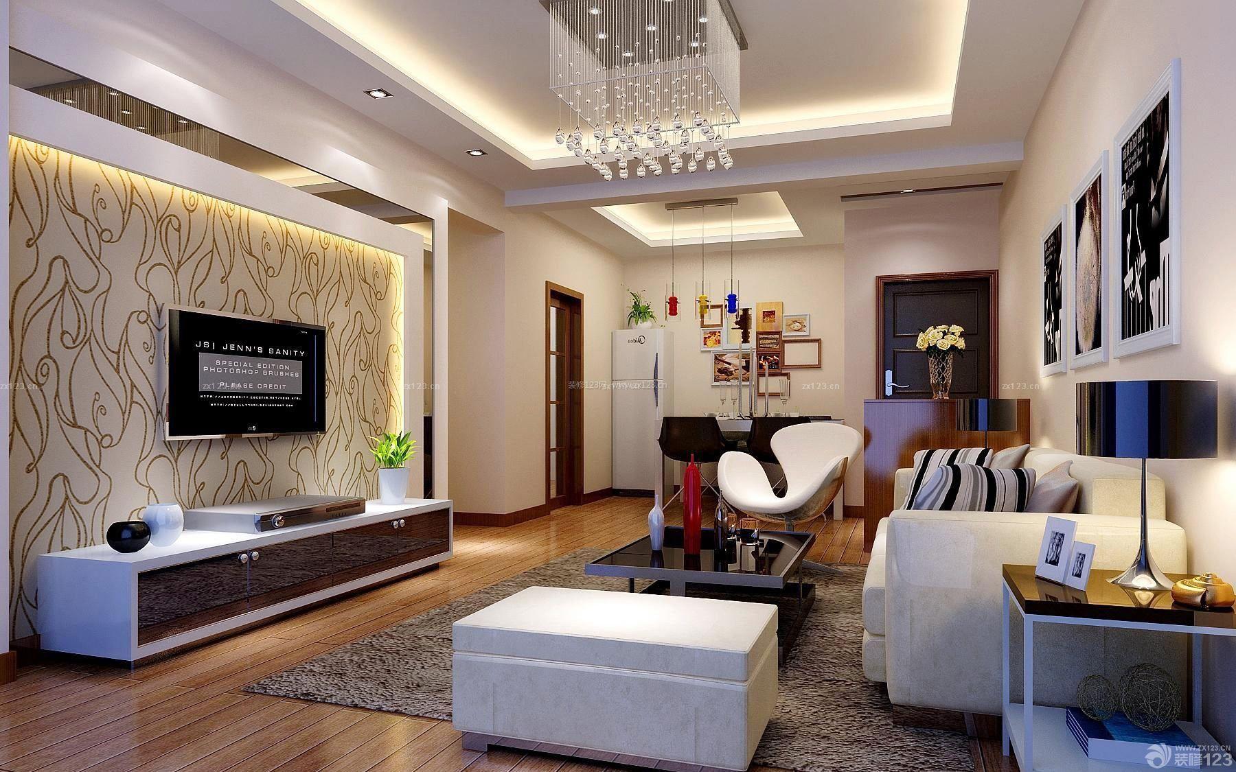 140平方米房屋现代客厅装修效果图