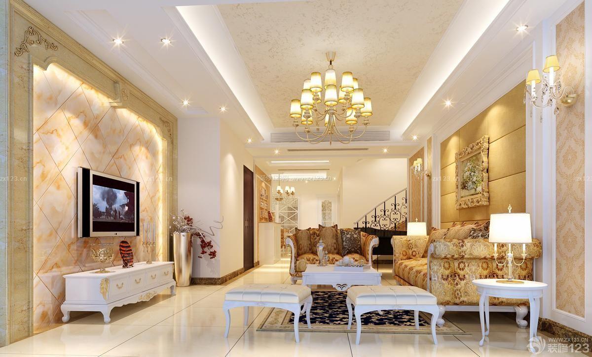 140平方米房屋客厅电视墙设计装修效果图