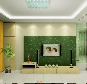 70平方米二室一厅客厅电视背景墙壁纸装修效果图 -每日推荐