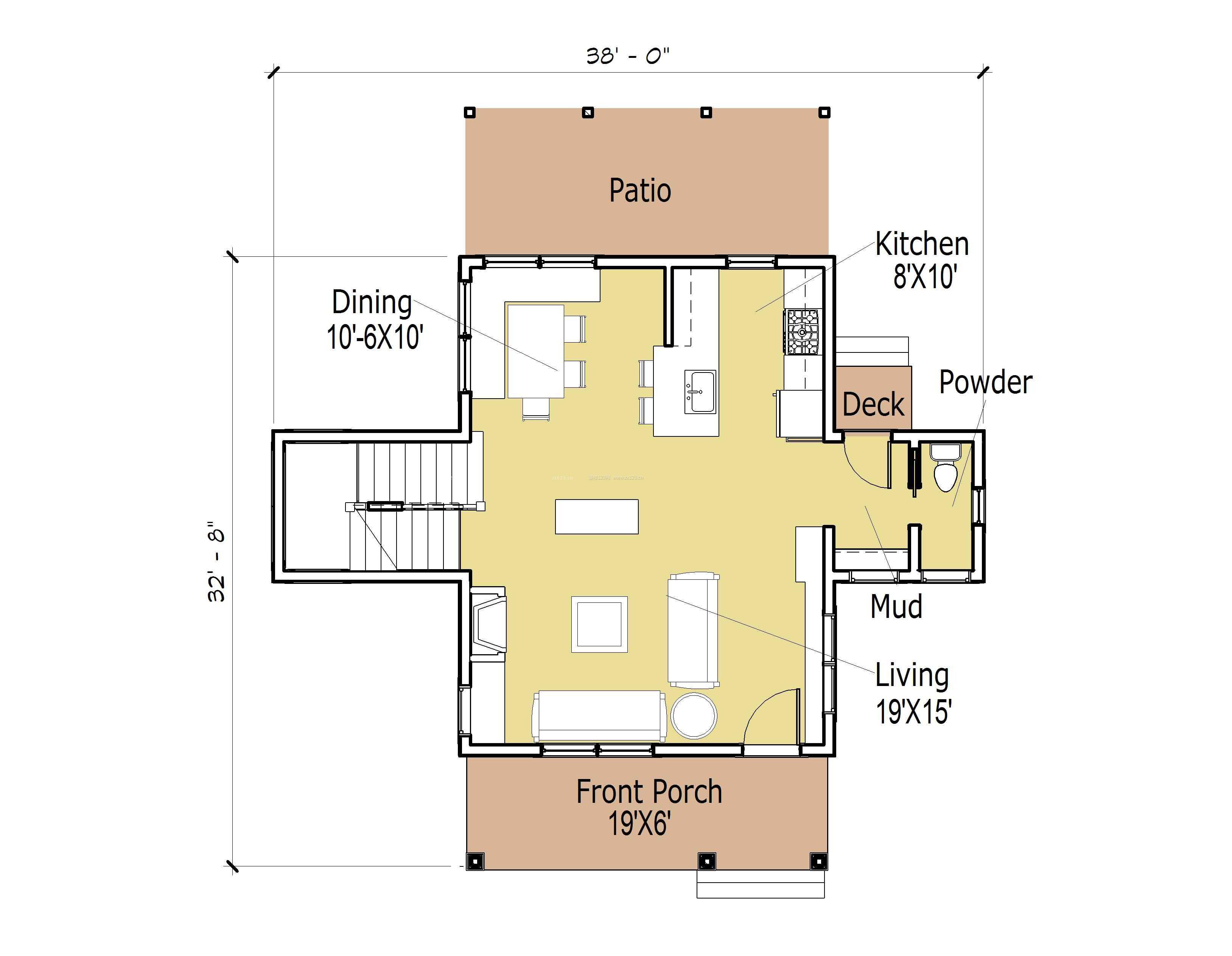 最新120平方米别墅跃层式住宅户型图