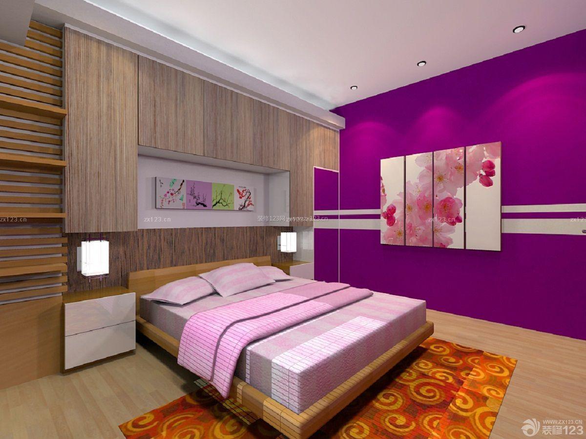 温暖时尚家庭床头入墙柜装饰效果图图片