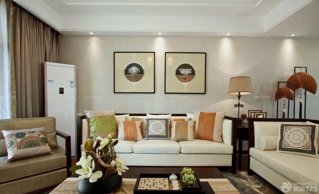 家装温馨60平米中式小户型沙发垫装修效果图片