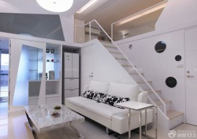 70平米小復式樓裝修效果圖 樓梯設計裝修效果圖片