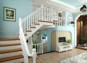 70平米小復式樓裝修效果圖 室內樓梯扶手裝修圖片