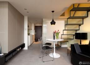 70平米小復式樓裝修效果圖 玻璃樓梯裝修效果圖