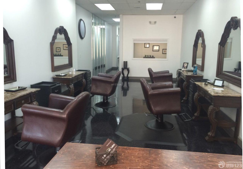 复古欧式风格60平米理发店装修效果图片欣赏