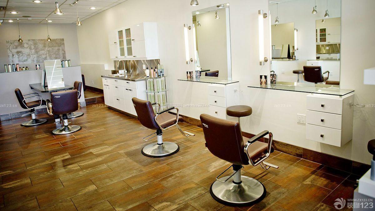 简装现代风格60平米理发店装修效果图图片