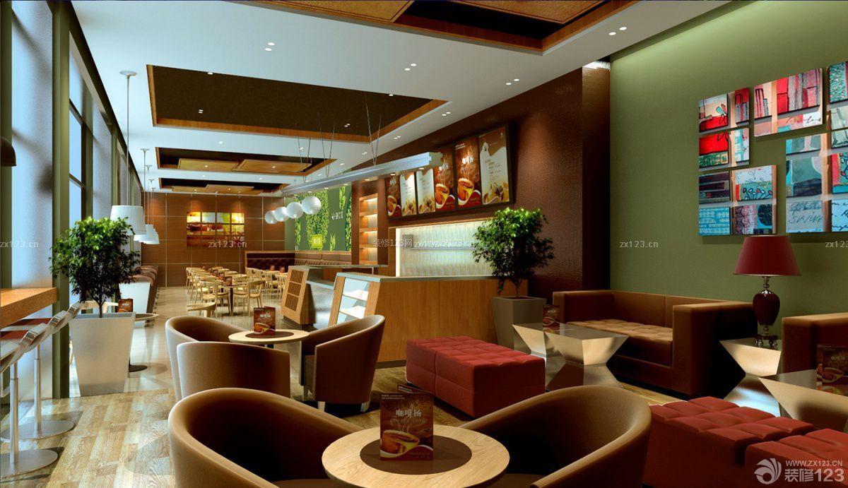 复古风格咖啡店装修效果图