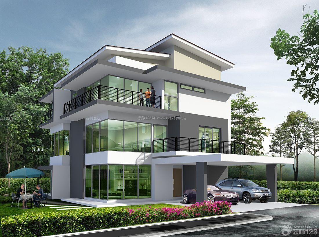 农村现代别墅三层房屋设计图样板