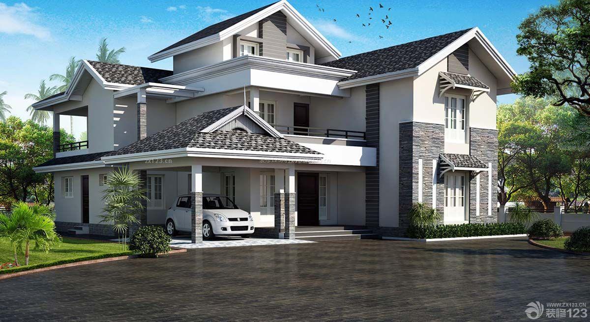 精致农村三层房屋琉璃瓦设计图欣赏图片