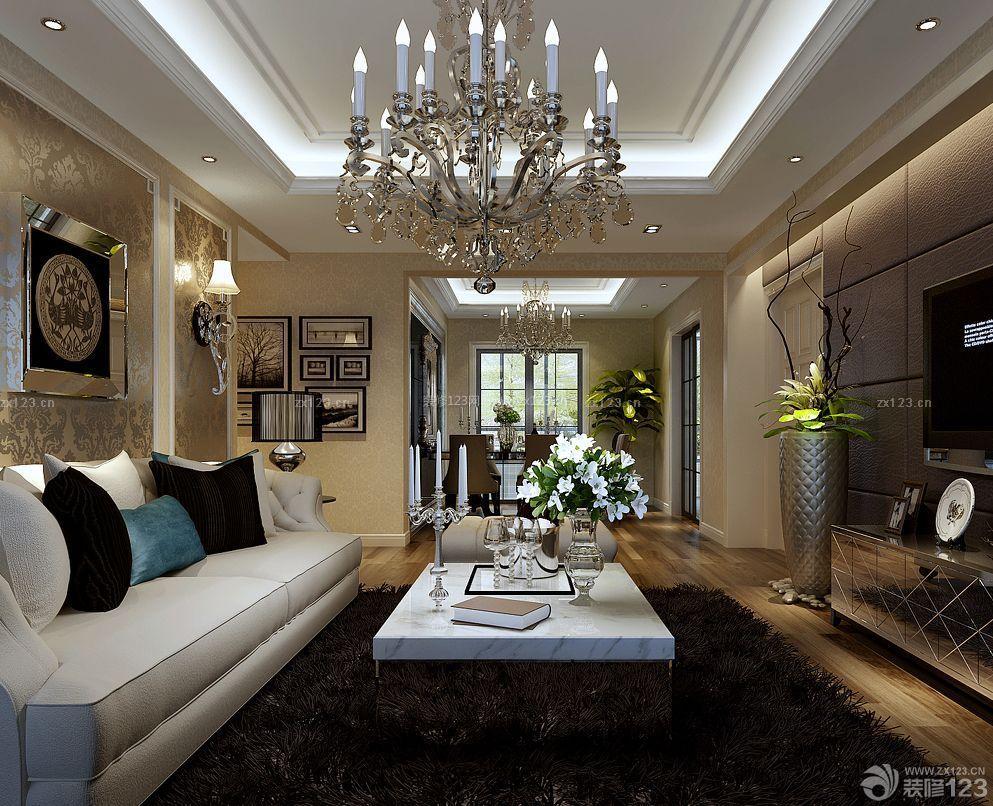 豪华家装90平米三室一厅房屋装修效果图