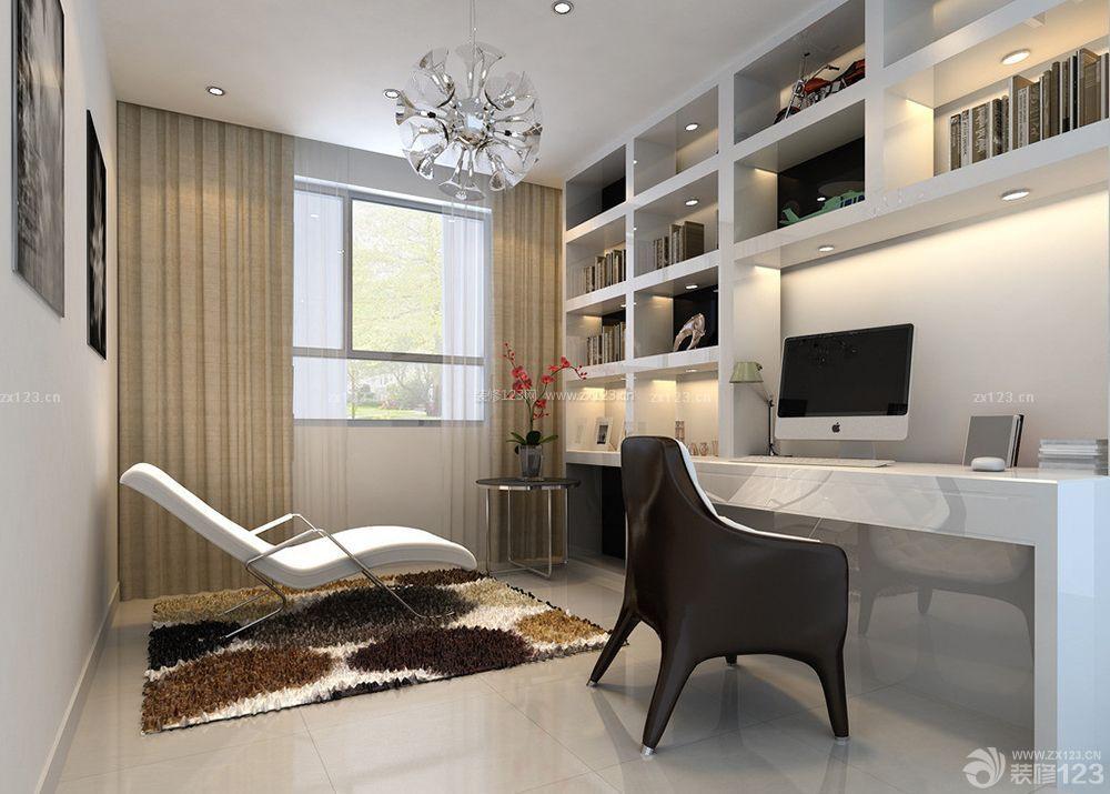 现代风格家装小书房装修设计效果图