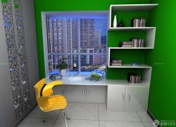 現代簡約風格書房書桌裝修設計效果圖片