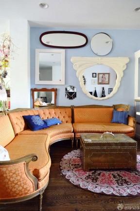 60平方小復式裝修 歐式沙發裝修效果圖片