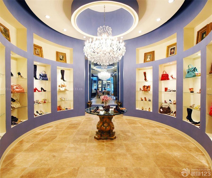 工装效果图 欧式 豪华欧式风格鞋店装修图片欣赏