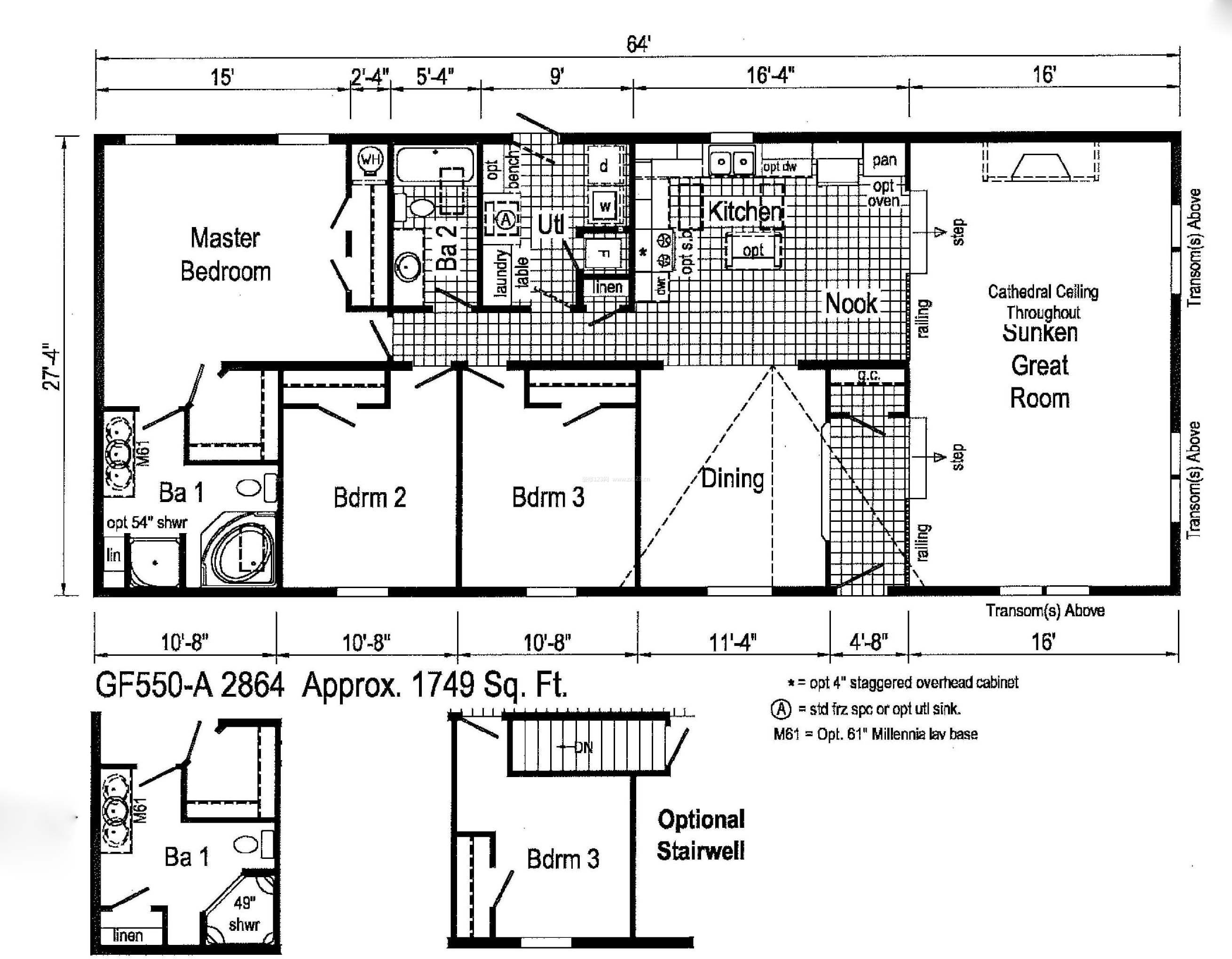 乡村别墅室内设计平面图