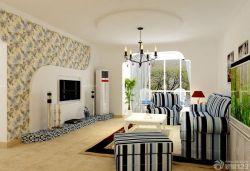 美式新房客廳電視背景墻裝修效果圖片大全