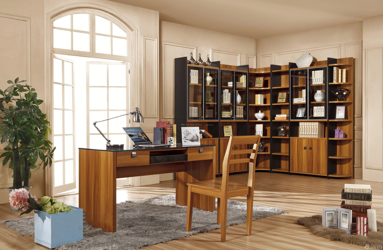 现代欧式混搭风格独立小书房装修效果图图片