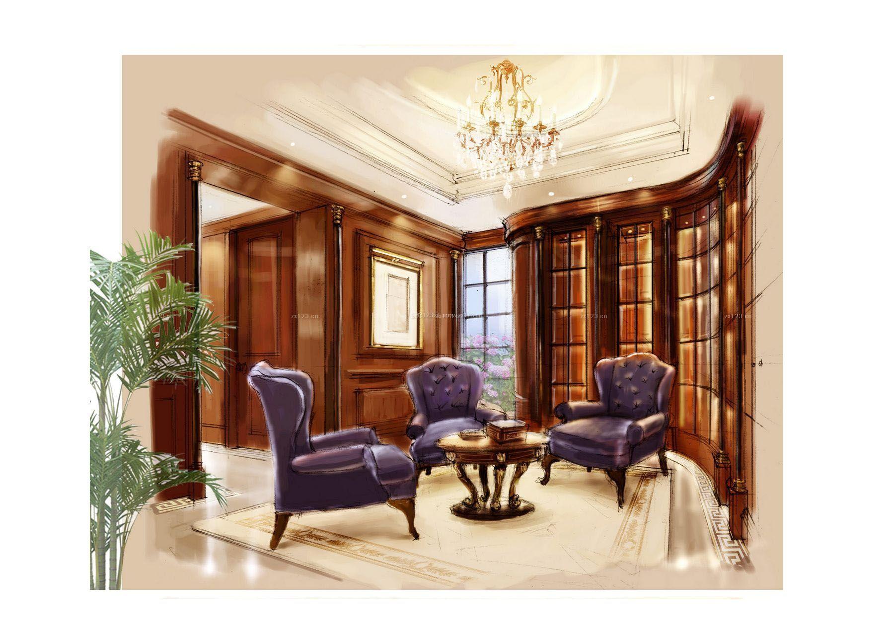 图片效果图美式美式室内休闲椅v图片等比效果图提供者cad把如何手绘绘制家装图片