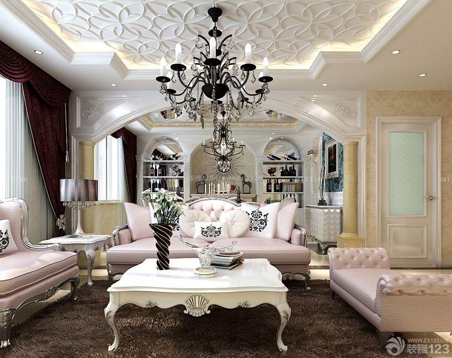 欧式房子白色茶几装修效果图大全图片