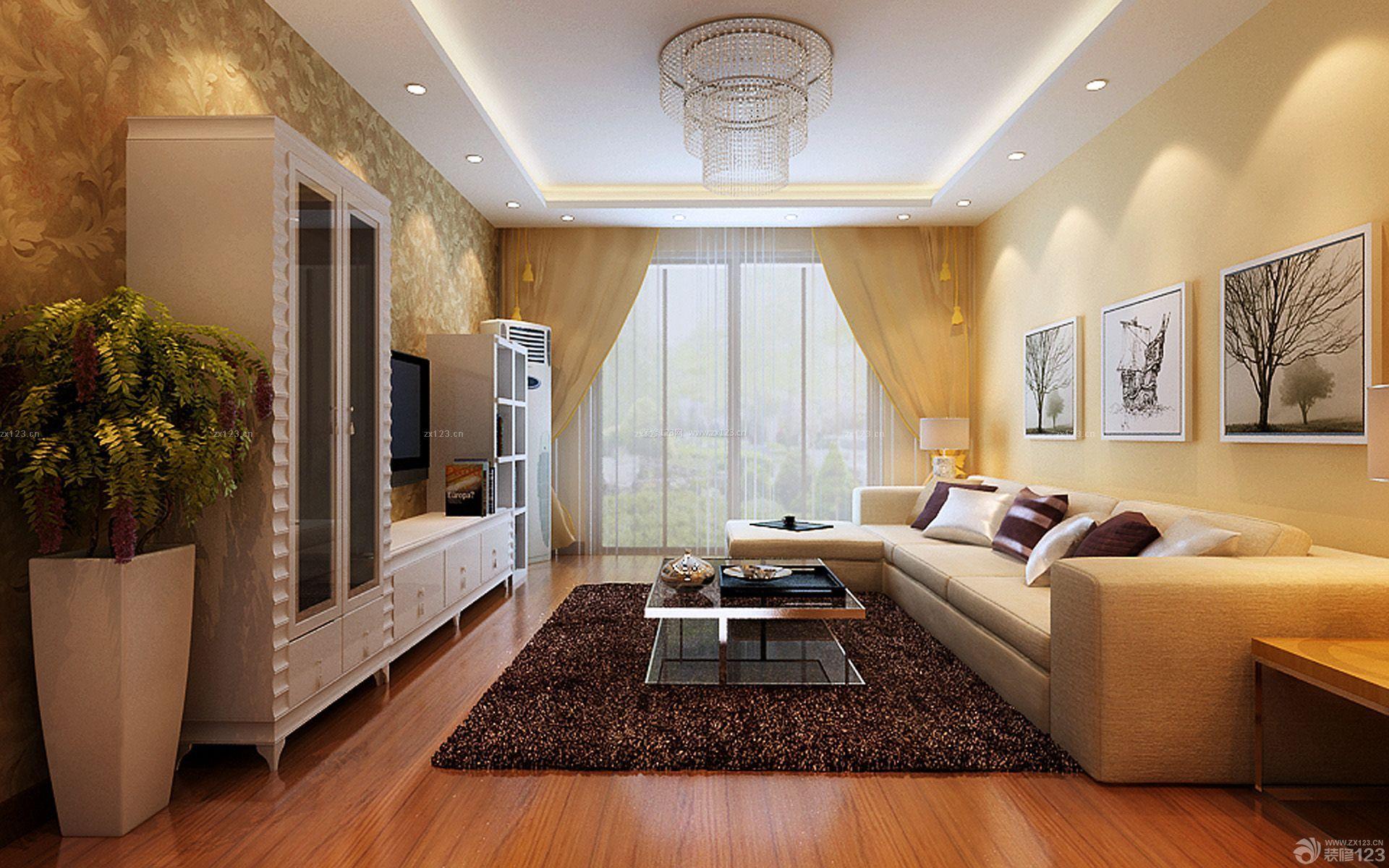 70平米小户型两室一厅客厅装修图_装修123效果图