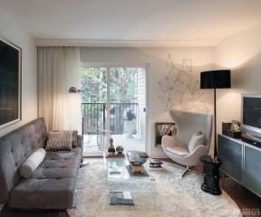 60小戶型客廳帶陽臺裝修效果圖 小戶型設計效果圖