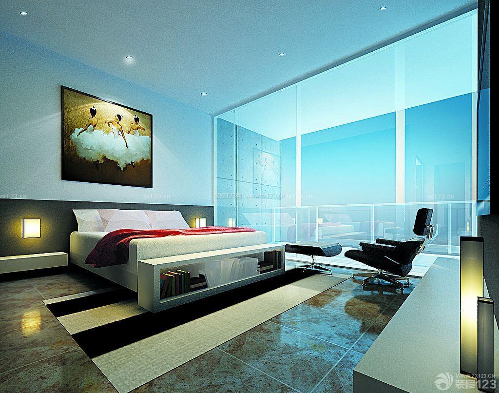 现代时尚简约150平米房屋卧室装修效果图