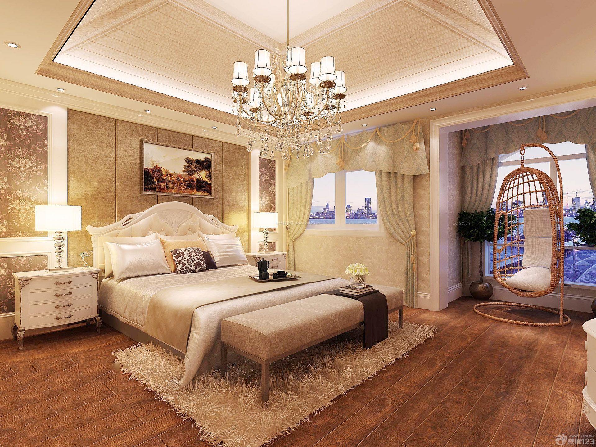 130平米房子卧室窗帘装修效果图欣赏