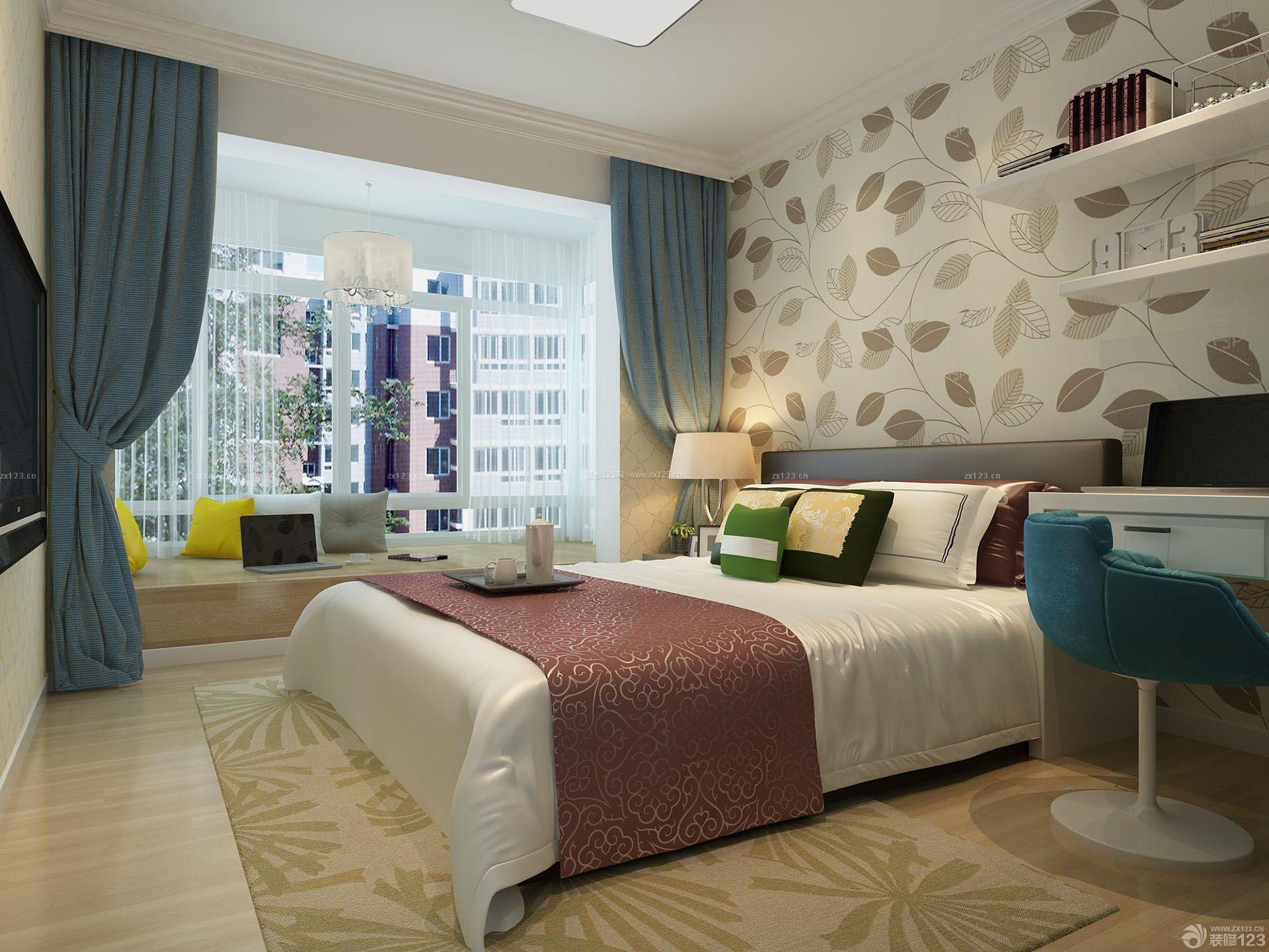 女孩房屋卧室窗帘装修效果图大全2015图片