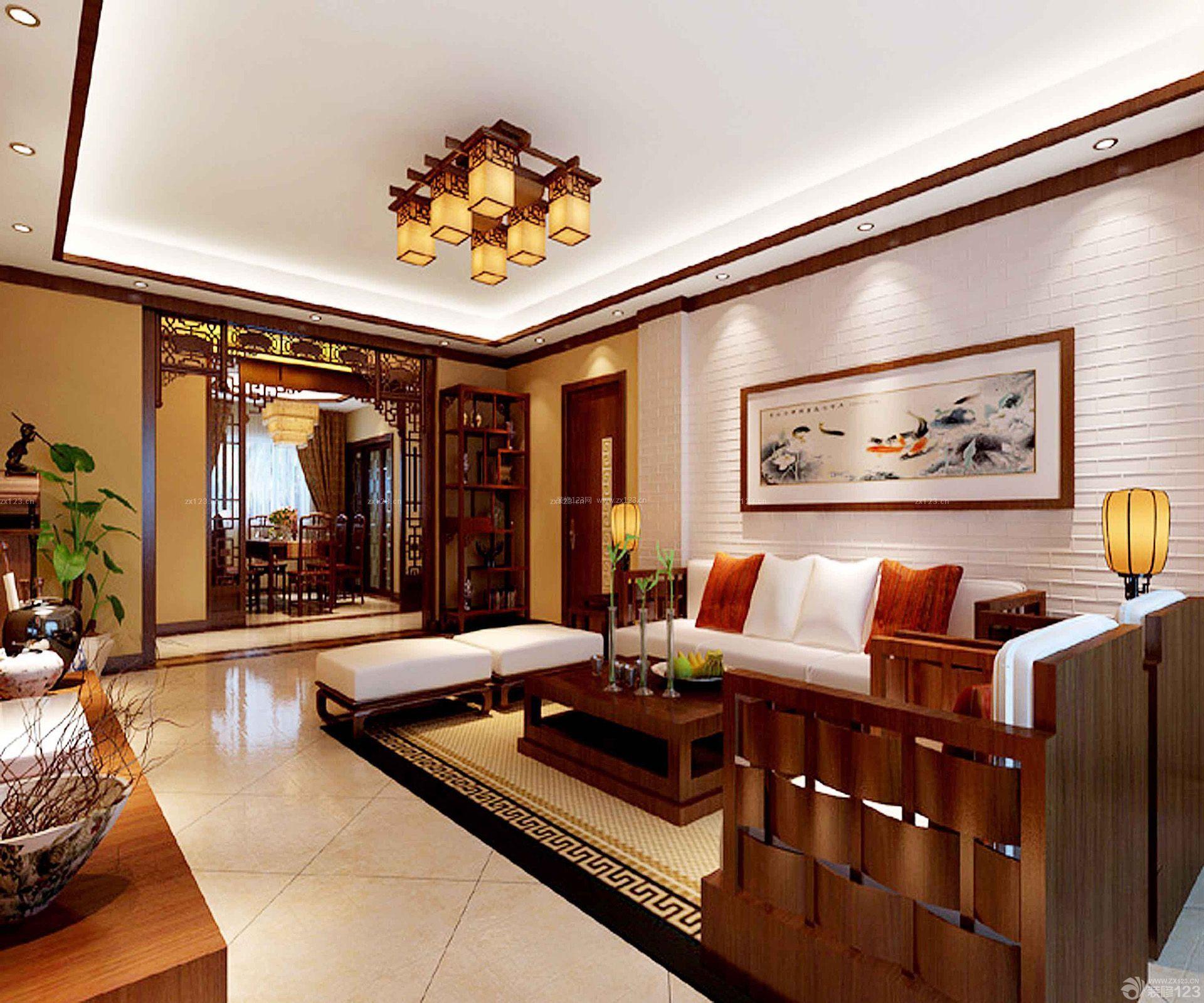 中式红木家具房屋装修效果图大全2015图片