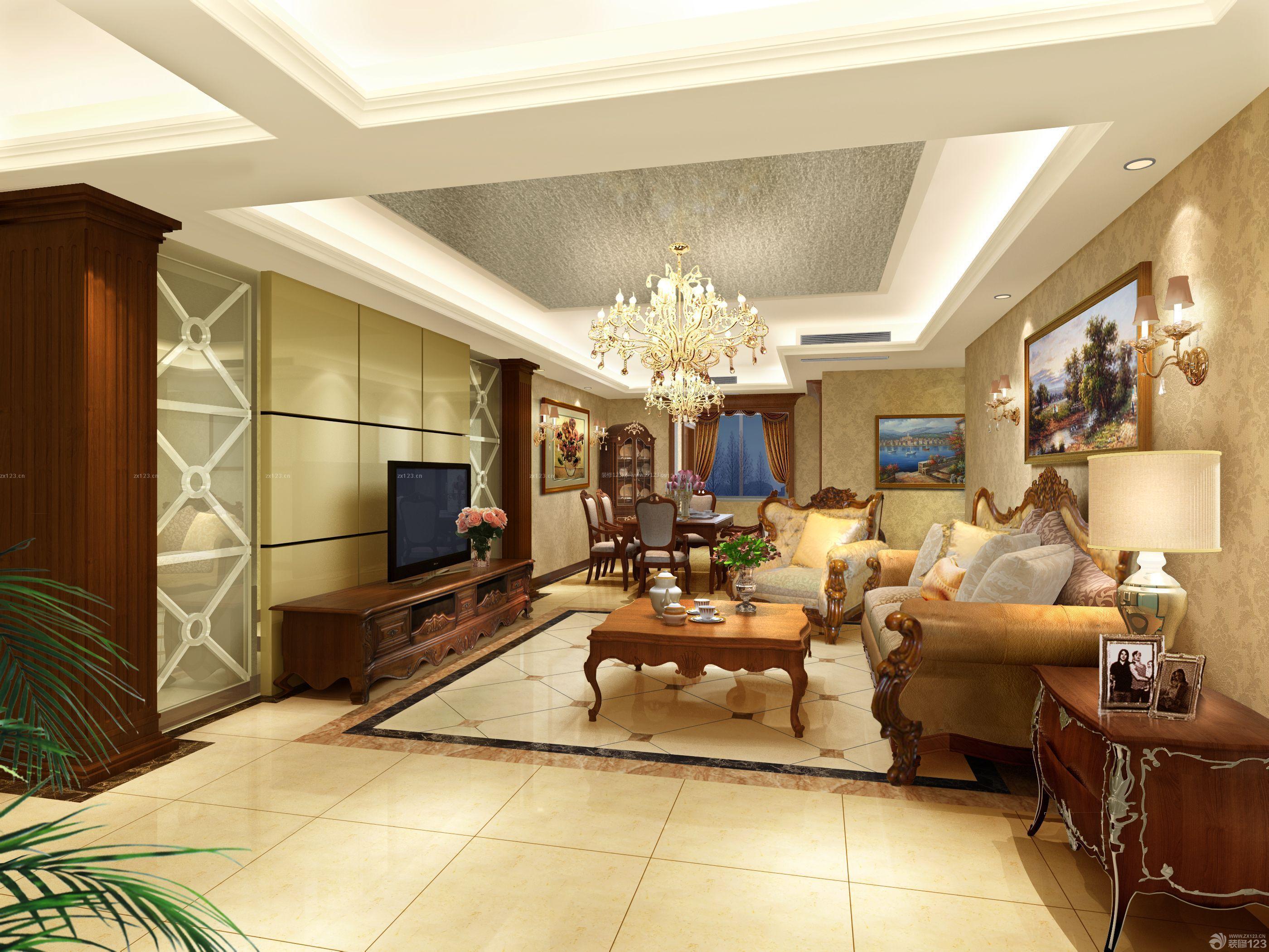 110平米三居室房屋装修图片大全