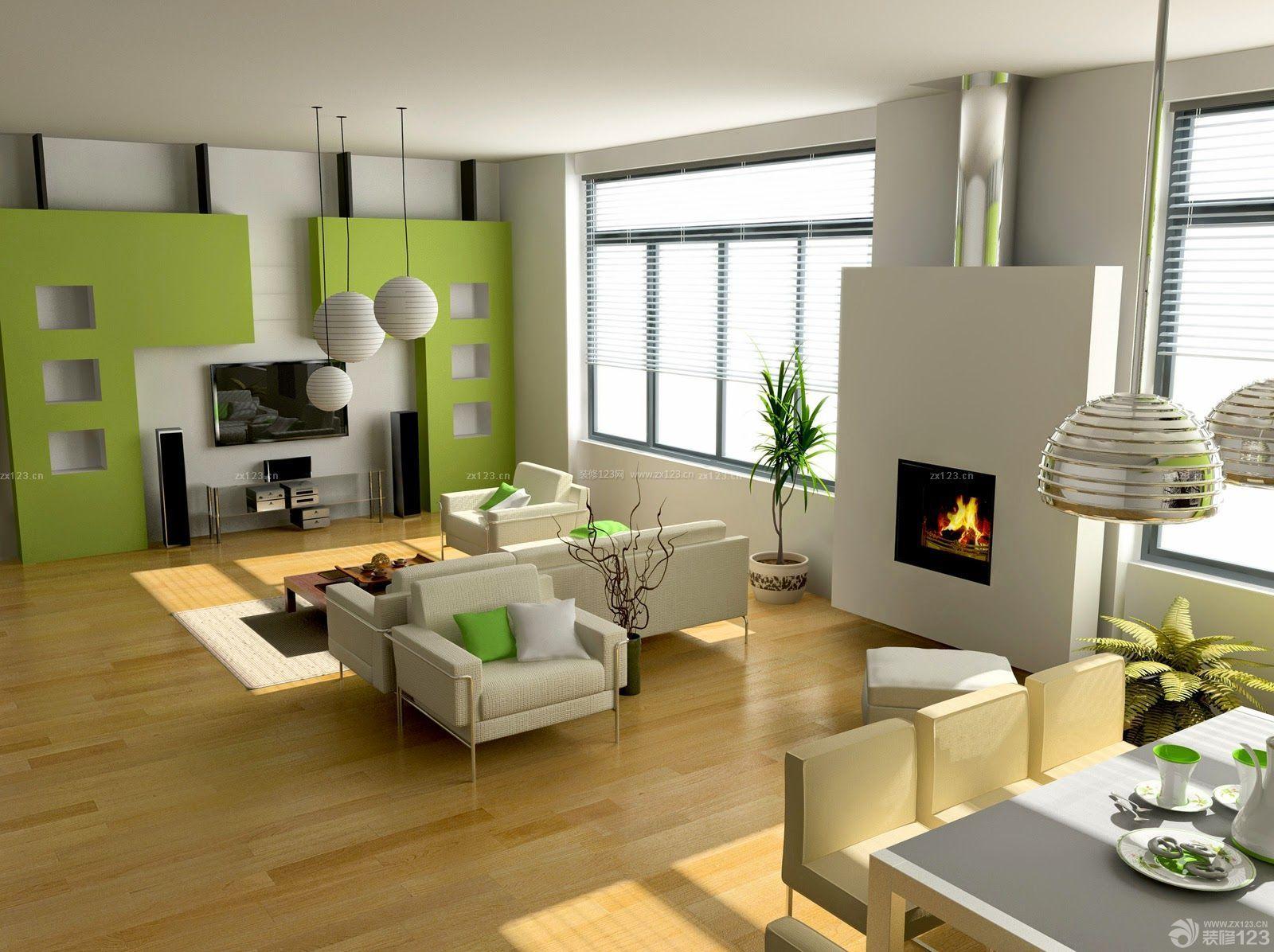 现代80平米房子创意电视背景墙装修效果图图片