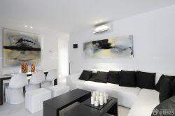 簡約風格大房子客廳裝飾畫裝修效果圖片