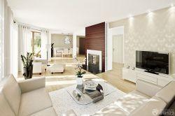 簡約現代風格大房子客廳家居設計裝修效果圖