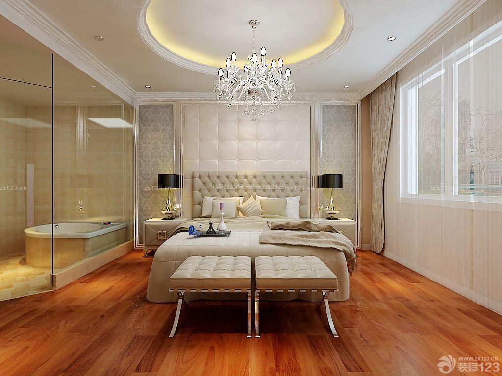 家装效果图 卧室 90平米小户型房子浪漫主卧室卫生间装修图 提供者